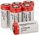 AmazonBasics Lithium CR123a 3V Batteries, 6-pack