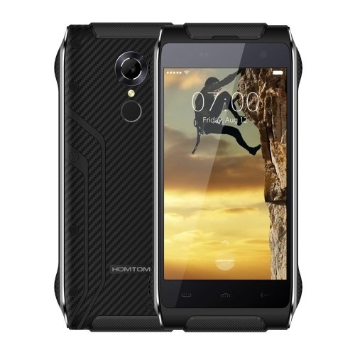 HOMTOM HT20 16GB 4.7 Inch Android 6.0 Smartphone, IP68 Waterproof Dustproof Shockproof, MT6737 Quad-Core, 2GB RAM WCDMA & FDD-LTE (Black)