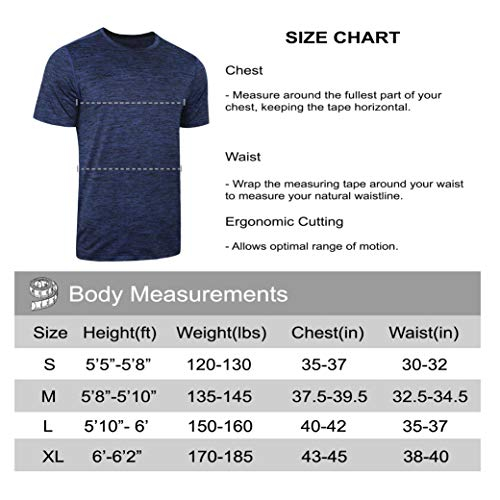 5 Pack Men's Active Quick Dry Crew Neck T Shirts | Athletic Running Gym Workout Short Sleeve Tee Tops Bulk 20 Fashion Online Shop gifts for her gifts for him womens full figure