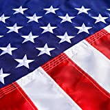 United Flags American USA US Flag 3x5 ft - Deluxe Embroidered Stars, Heavy Duty Durable Flags Built for Outdoors, Vivid Color, Sewn Stripes, Brass Grommets, Double Stitched UV Protection Outside