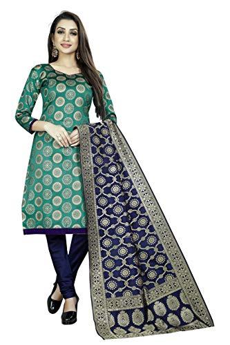 Women's ethnic wear cotton silk rama colour dress