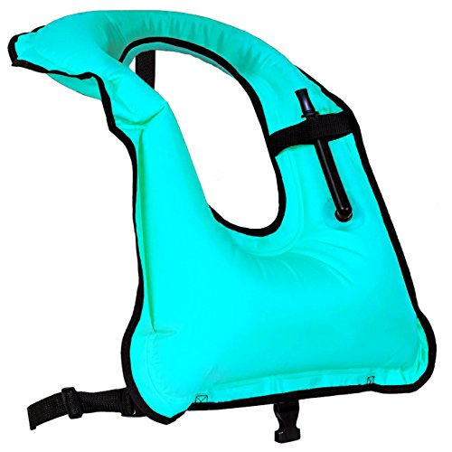 Faxpot Men/ Women Adult Inflatable Life Jacket Snorkel Vest