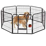 BestPet Heavy Duty Pet Playpen Dog Exercise Pen Cat Fence B, 40-Inch, Black