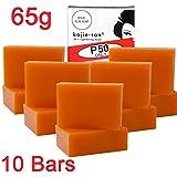 KOJIE SAN FACE & BODY SOAP - 5 Pack of Kojie San Skin Lightening Kojic Acid Soap (2 Bars per pack) 65g - SUPER SAVINGS