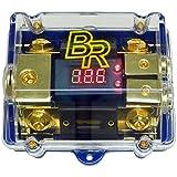 Bass Rockers Fused 2-Way ANL Distribution Block 0/4GA-2x4/8GA w/Display (ANLFH02D)