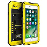 Fansteck iPhone 7 / iPhone 8 Waterproof Case IP68 Military Grade Heavy Duty Waterproof/Shockproof/Snowproof/Dirtproof Full Body Protective Case with Built-in Screen Protector for iPhone 8 / iPhone 7