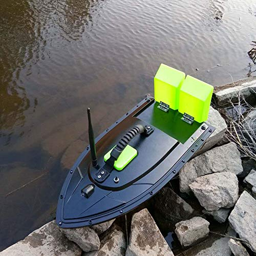 K&A Company URUAV 2011-5 Generation 50cm Fishing Bait RC Boat 500M Remote Fish Finder 5.4km/h Double Motor Toys, Green