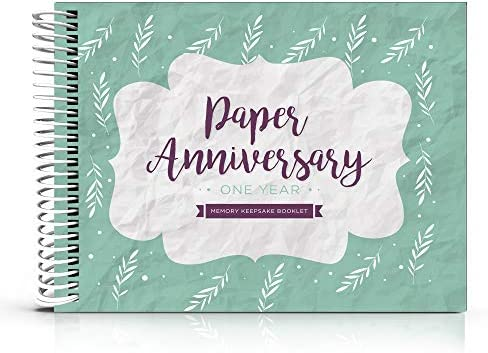 1st Anniversary Gifts For Couples By Year One Year Booklet With Matching Card For Paper Anniversary First Anniversary Memory Journal Unique 1 Year Wedding Gift For Husband Or Wife Amazon Com Au