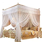 1.52 m Elegant for Double Bed Canopy Insect Reject Net Circular Canopy Bed CurtaMosquito Repellent Tent White,01