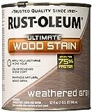 RUST-OLEUM 271130 Quart Weathered Grey Interior Wood Stain
