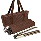 New! - Linda Li8482; American Mahjong Set - 166 Premium Ivory Tiles, All-in-One Rack/Pushers, Brown Soft Bag - Classic Mah Jongg Game Set