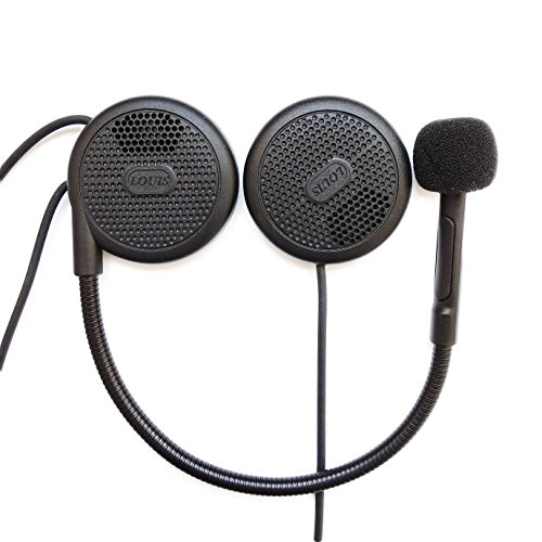 NikoMaku Motorcycle Headphones Bluetooth Helmet Headset Bluetooth Helmet Speakers Earphone Intercom for Helmets Wireless Headphones with Microphone Sound System for Motorcycle 0.27 inches Silm