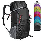 G4Free Large 40L Lightweight Water Resistant Travel Backpack Foldable Packable Hiking Daypack(Black)