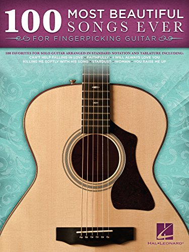 100 Most Beautiful Songs Ever for Fingerpicking Guitar (Songbook)
