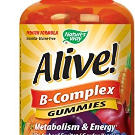 Nature's Way Alive!® B-Complex Gummies, Food-Based Blend (150mg per serving), Gluten Free, Made with Pectin, 60 Gummies