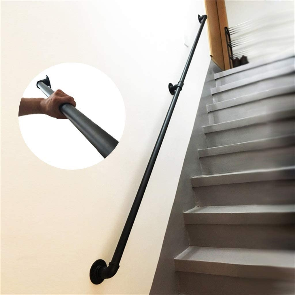 Amazon Com Wall Body Loft Stair Handrail Indoor And Outdoor | Decorative Wrought Iron Handrail | Forged Iron | Interior | Classic | Ornamental | Steel