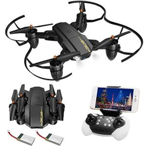 720P HD Drone with Camera for Kids Adults Gifts, Foldable FPV Remote Control RC Quadcopter for Children Beginners Boys Toys, Wifi Live Video Gyroscope Aircraft VR Mode Altitude Hover Plane for iPhone 51n5N 2B 2BV0wL