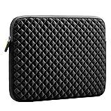 Evecase Diamond Foam Splash & Shock Resistant Neoprene Sleeve Notebook Case Bag for Dell Inspiron 15.6inch / Dell XPS 15 Laptop Chromebook- Black