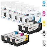 LD Remanufactured Ink Cartridge Replacements for Epson 410XL High Yield (1 Black, 1 Cyan, 1 Magenta, 1 Yellow, 1 Photo Black, 5-Pack)