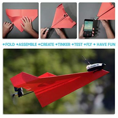 POWERUP-30-Original-Smartphone-Controlled-Paper-Airplanes-Conversion-Kit-Durable-Remote-Controlled-RC-Airplane-for-Beginners-Works-with-Most-Paper-Airplane-Books