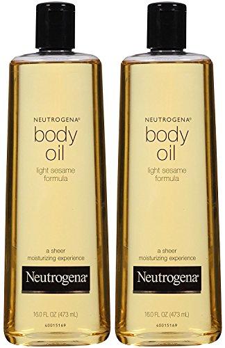 Neutrogena Body Oil, Light Sesame Formula, 16 Ounce (Pack of 2)