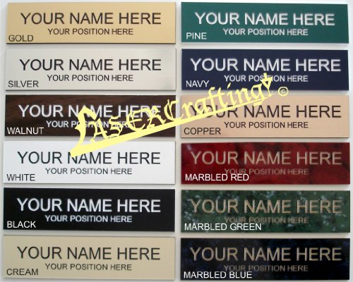 PACK OF 10 - Personalized Office Desk Name Plate or Door Sign 2 ...