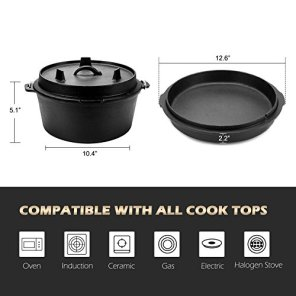 CO-Z-Pre-Seasoned-Cast-Iron-Dutch-Oven-with-Lid-and-Lid-Lifter-Tool-Outdoor-Camp-Pot-9-Quart