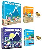 BUNDLE of Machi Koro Base Game Plus Three Expansions and 2 Cool Treasure Chest Buttons