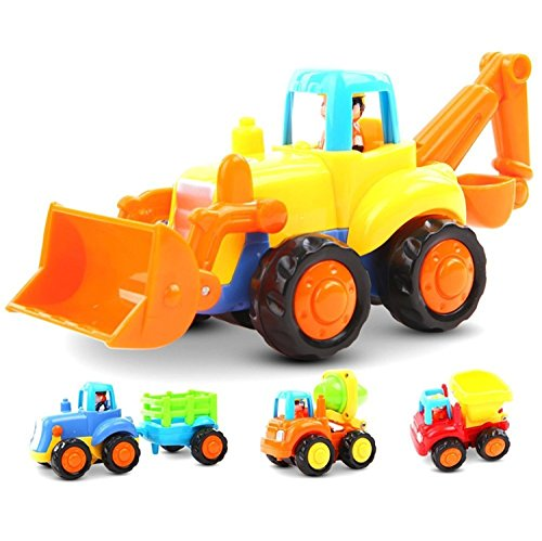 Toy Trucks For Four Year Old Boys : Friction powered cars push and go car construction