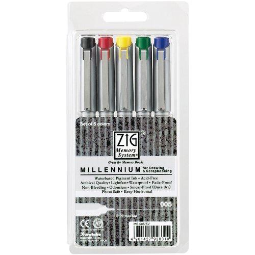 Zig Memory System Millennium 5-Color Set, 5mm