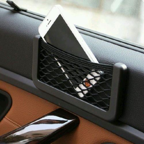 51nILyf%2B%2BzL Car Net Holder Phone Holder Pocket Organizer String Bag (Black) for Honda City 2020