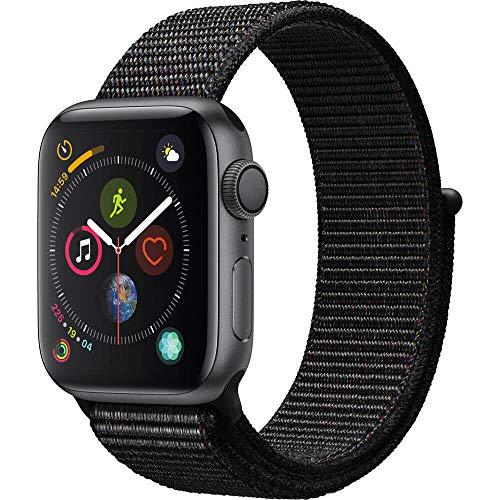 AppleWatch Series4 (GPS, 44mm) - Space Gray Aluminium Case with Black Sport Loop