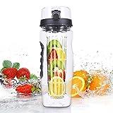 VANTAKOOL Fruit Infused Water Bottle, 32OZ Sport Fruit Infuser Water Bottle with BPA Free Plastics and Tritan Sports Bottle with Fruit Infuser for Sports & Fitness Enthusiasts