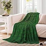 Oncegod Family Blanket Digital Circuit Board Diagram Wire Blanket on Bed Sofa Bedding 60' W x 40' L