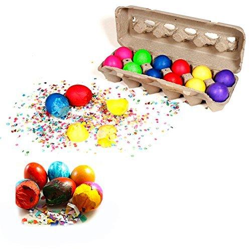 Cascarones Confetti Eggs -- 12 Eggs