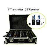 Professional TP-Wireless Tour Guide System Package(1 PC Transmitter+29 PC Receivers+Charge Box for 30 PC)