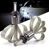 Green-L 9005 LED Headlight Conversion Kit Fanless Car Headlight Bulbs Copper Heat Dissipation 90W 9800lm CREE XHP-50 Chips 6000k White Plug & Play (Pack of 2)