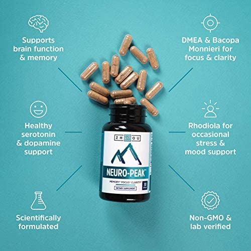 Neuro Peak Brain Support Supplement - Memory, Focus & Clarity Formula - Nootropic Scientifically Formulated for Optimal Performance - Dmae, Rhodiola Rosea, Bacopa Monnieri, Ginkgo Biloba & More 6