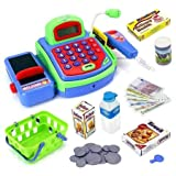 AJ Toys & Games 3251-X Pretend Play Electronic Cash Register Toy Realistic Actions & Sounds