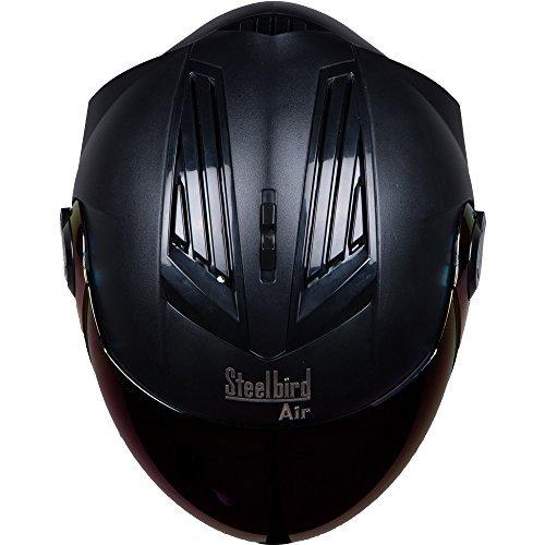 Steelbird Air SBA-2 Dashing Black with Iridium Blue Visor,600 mm under Motorcycle Gadgets & Accessories