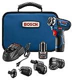 Bosch Power Tools Combo Kit - GSR12V-140FCB22 - 12V Flexiclick 5-In-1 Multi-Head Drill Set - One Tool Multiple Jobs