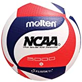 Molten FLISTATEC Volleyball - Official NCAA Men's Volleyball, Red/White/Blue (Renewed)