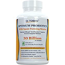 Dr. Tobias Probiotics: 30 Billion with Delay Release & Spore Forming Strains - Probiotic Supplement for Post-Antibiotic, Health & Immune Support Manufacturer: Dr. Tobias