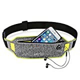 Letigo iPhone 8 Running Belt iPhone 7 Plus Waistband Sweatproof Running Pouch Belt for iPhone Xs/Max/XR/iPhone 6 Running Fanny Packs for Women & Men, Reflective Waist Pack Belt