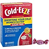 Cold-EEZE Cold Remedy Lozenges Cherry, 18 Count, Cold Remedy Sugar Free Lozenges, #1 Pharmacist Recommended Zinc Lozenge, Shortens Colds