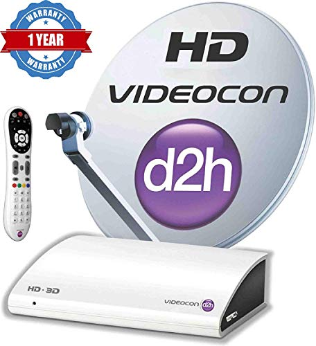 Videocon d2h SD (Normal Box) Set Top Box with 1 Month Gold Combo Pack Free 134