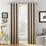 Sun Zero Baxter Theater Grade Extreme 100% Blackout Curtain Panel, 52' x 63', Stone Beige