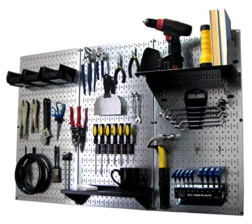 Pegboard-Organizer-Wall-Control-4-ft-Metal-Pegboard-Standard-Tool-Storage-Kit-with-Galvanized-Toolboard-and-Black-Accessories