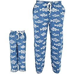 UB Kids Fisherman Print Matching Family Father's Day Pajama Pants (3t)