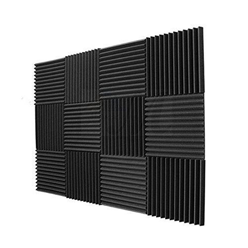 24Pack- Carbón acústica paneles Studio Espuma Cuñas
